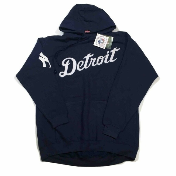 new style 5856f 5a36f Stitches Mens Detroit New York Yankees Hoodie Blue NWT